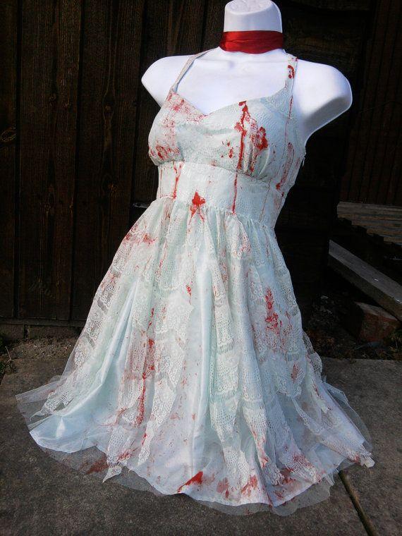 Zombie Wedding Dress For  : Zombie green lace bride texas chainsaw massacre vampire wedding dress