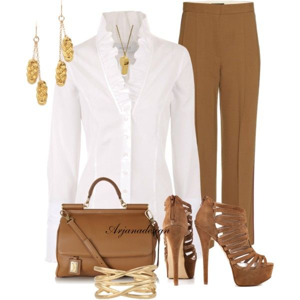 White Blouse Polyvore Outfits 70