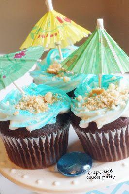 Cupcake Cutiees: Sun and Sun Cupcakes- Beach Pool Party theme