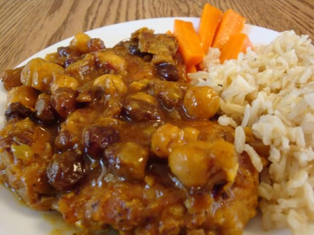 Moroccan Chicken Thighs With Chickpeas And Raisins Recipe - Food.com ...