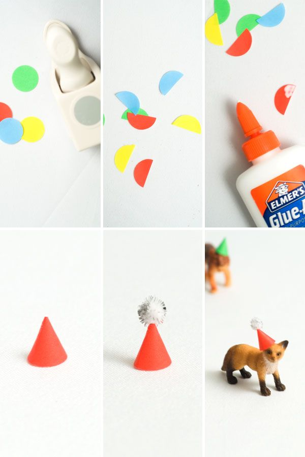 DIY Mini Animal Party Hats | Party Deco's and Favors | Pinterest
