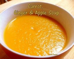 Carrot, Ginger & Apple Soup - Lovefoodies #soup #how to #recipe