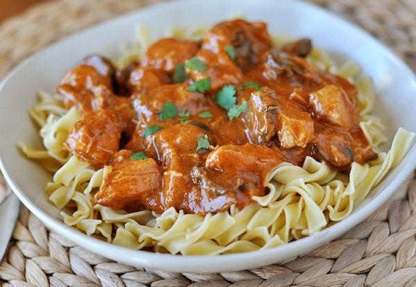 Paprika Chicken Stroganoff | f o o d | Pinterest