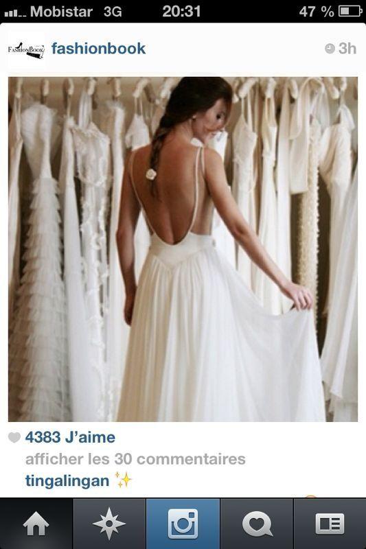 Robe de mariée dos nu  robes de mariée et de princesses...Pour ...