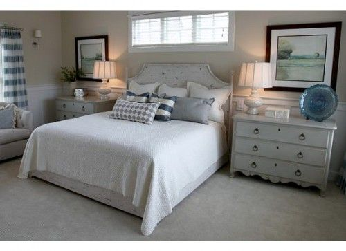 Window over bed blinds long high windows pinterest Master bedroom art above bed