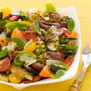 Healthy Recipe: Grilled Vegetable Panzanella Salad: Organic Gardening