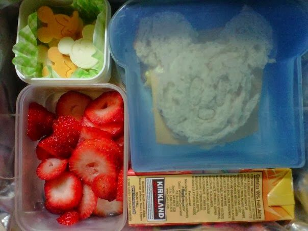 Mickey Bento lunch | Kids Lunch ideas | Pinterest
