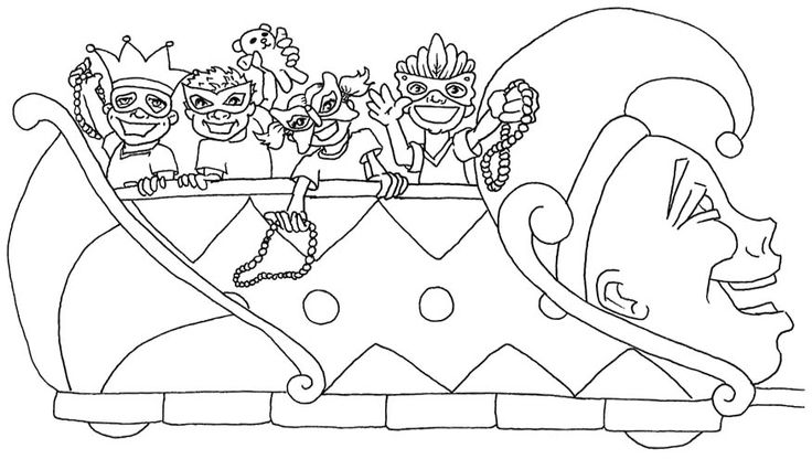 Mardi Gras Coloring Book | kids coloring pages | Pinterest