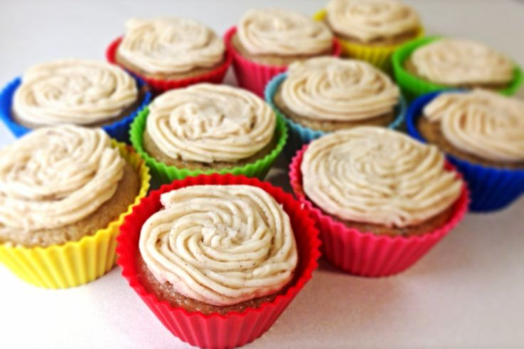Banana Chocolate Chip Cupcakes with Honey Cinnamon Frosting