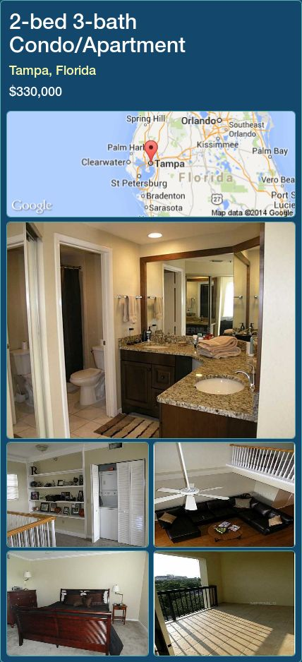 Condo Apartment For Sale In Tampa Florida With 2 Bedroom 3 Bathroom