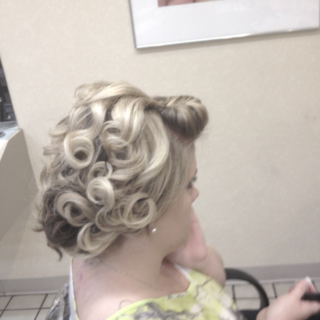 Pin curl delight side view hairstyles pinterest