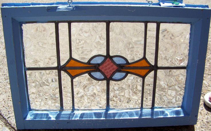 22x14 old vtg mission nouveau leaded stained glass window for 20 40 window missions
