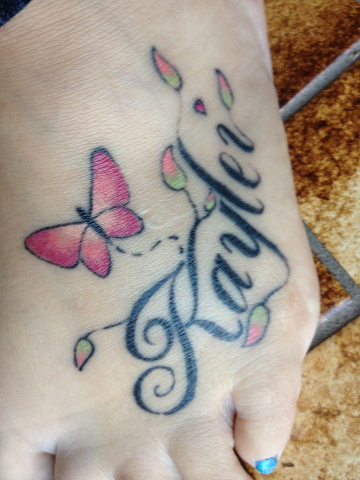 Tattoo of my daughters name tattoo ideas pinterest for Daughter name tattoo ideas