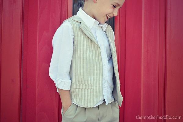Little Boy Vest Pattern and Tutorial