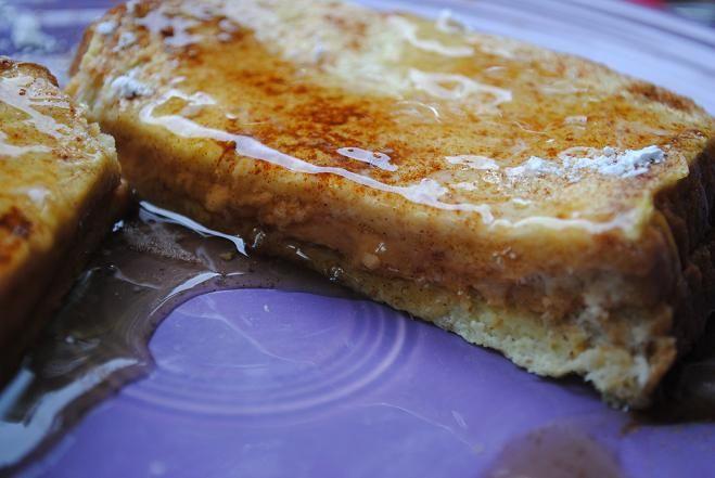 Peanut Butter Stuffed French Toast   Breakfast   Pinterest