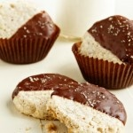 Potato Chip Cookies (dipped in semi-sweet chocolate and sprinkled with ...