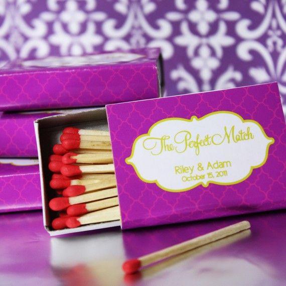 Personalized match boxes wedding something pinterest