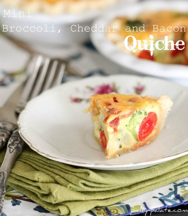Mini Broccoli, Cheddar and Bacon Quiche from @Jenny Flake, Picky ...