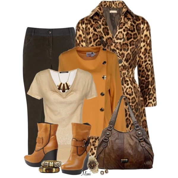 Mustard Leopard, created by myfavoritethings-mimi on Polyvore