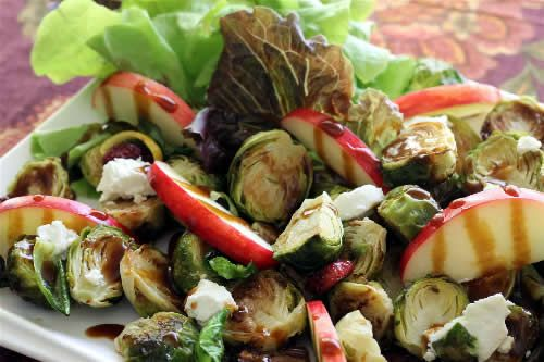 Roasted Brussels Sprouts 'n Apple Salad with Balsamic Drizzle... If ...