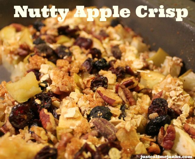 Nutty Apple Crisp - A 30-minute dessert that's warm and filled with ...