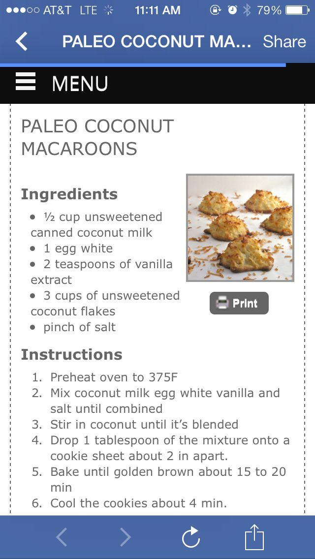 Paleo macaroons   Dessert   Pinterest