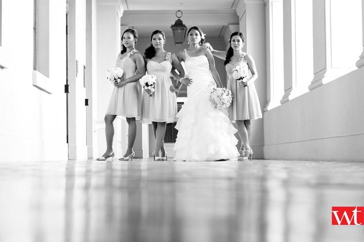 bride & her bridesmaid looking good for portrait photos
