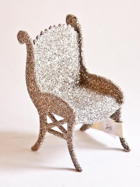 glass glitter chair | Garden of Whimsy | Pinterest