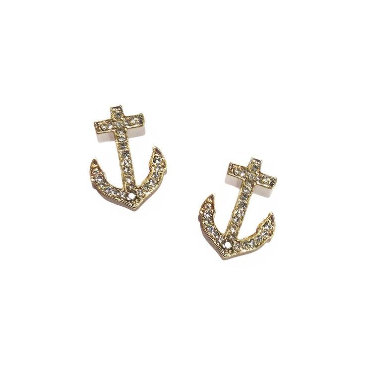 Anchors Stud Earrings