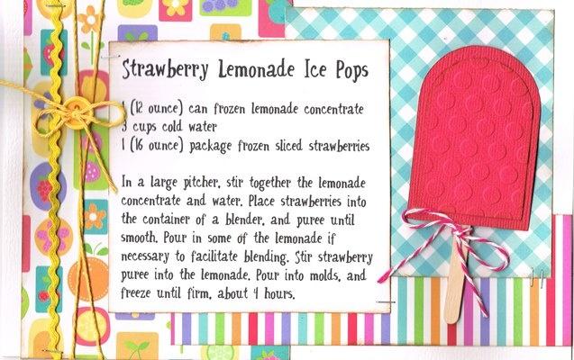 Strawberry Lemonade Ice Pops | Recipe Swaps | Pinterest