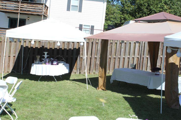 Tent Wedding In Backyard : Backyard Weddings