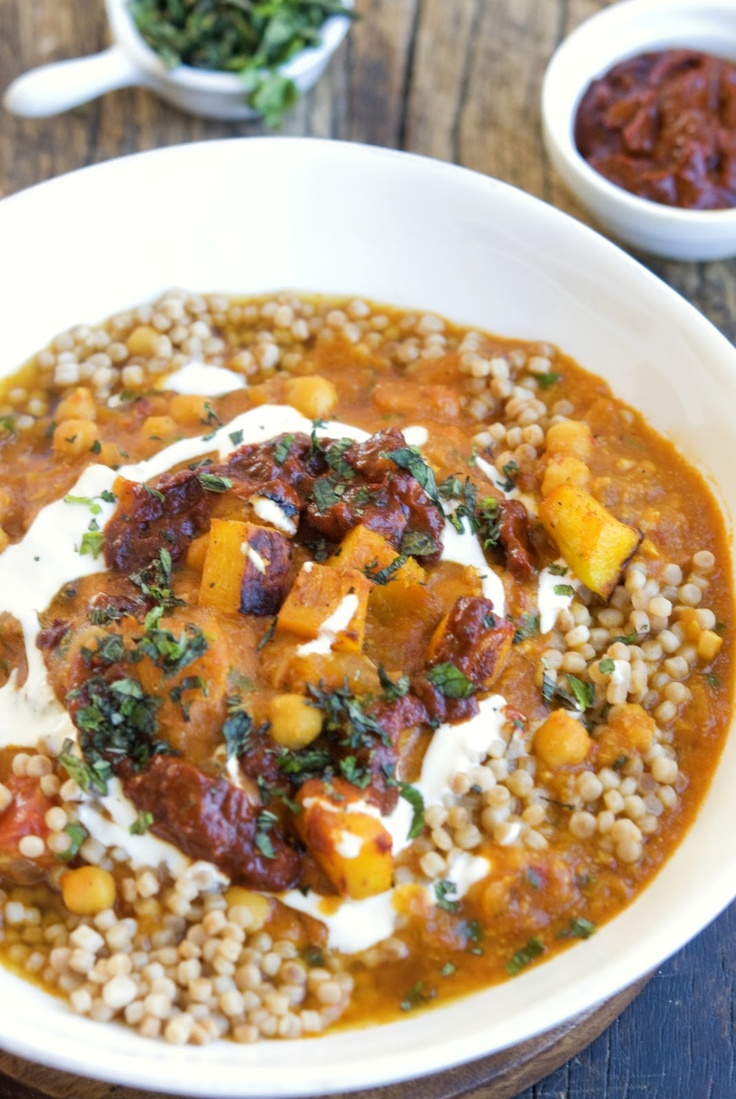 Chickpea and Pumpkin Stew with Harissa add a touch of preserved lemon ...
