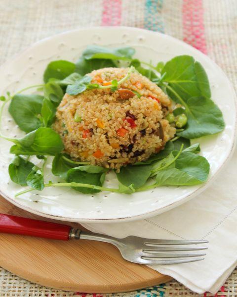 Quinoa, Edamame and Pepper Salad with Kaffir Lime & Ginger Vinaigrette ...