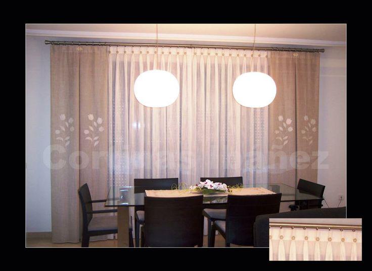 Pin by cortinas iba ez on cortinas pinterest for Visillos para cocina confeccionados
