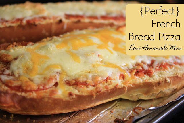 ... Homemade Mom - Perfect French Bread Pizza www.mostlyhomemademom.com