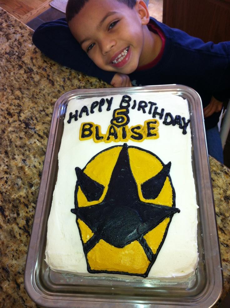 gold power ranger cake