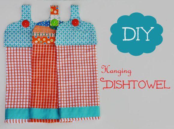 Hanging dish towel sewing pinterest - Hanging kitchen towel tutorial ...