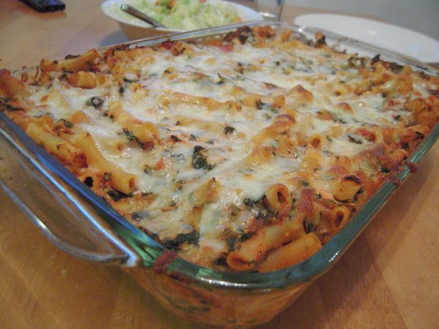 Sarah's Fares: Baked Ziti with Spinach | Recipes - Savory | Pinterest
