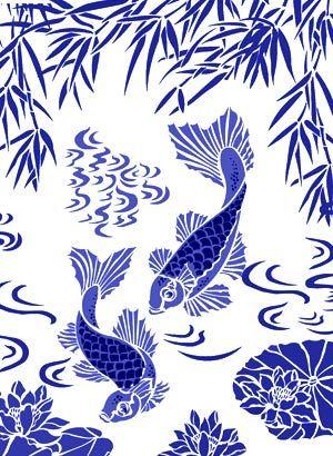 Koi fish stencil crafting ideas pinterest for Koi fish stencil