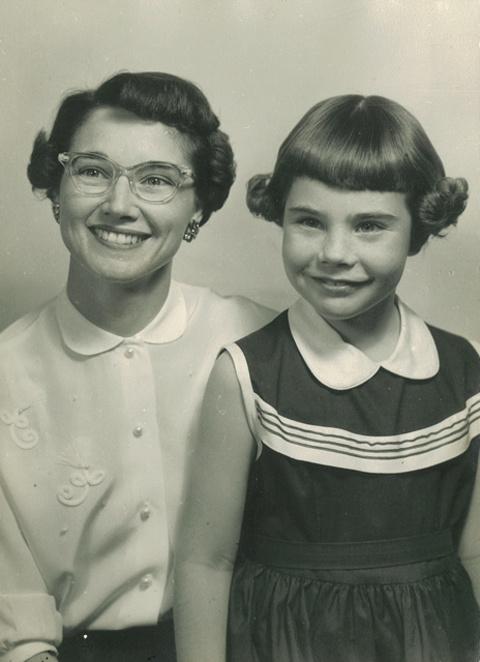 Laura Bush, a native Texan,  and her mother.