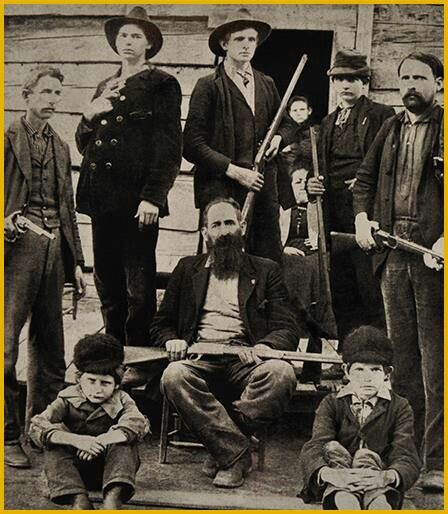 hatfields and mccoys When the mccoys murder anse's younger brother, the hatfields ride out to get bloody revenge soon, friends, neighbors, and outside forces join the feud, and all-out hostilities between the hatfields.