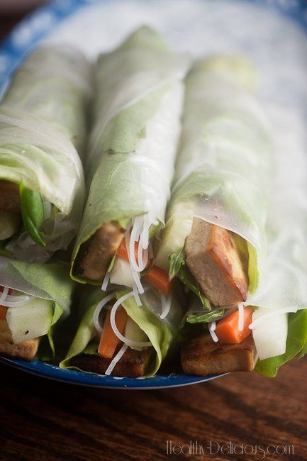 Gingery Tofu Summer Rolls with Pineapple Dipping Sauce   Recipe