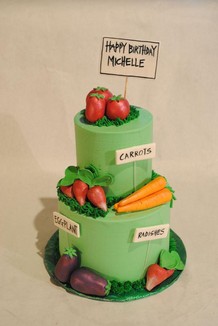 Vegetable Garden Cake Ideas Photograph | Vegetable Garden Ca