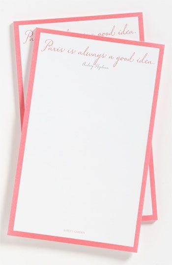 Paris Is Always A Good Idea' Note Pads 'Paris Is Always' Note Pads