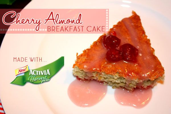 Cherry-Almond Breakfast Cake with Vanilla Glaze