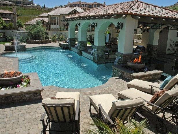 Custom pool outdoor living spaces custom pools pinterest for Luxury outdoor living spaces