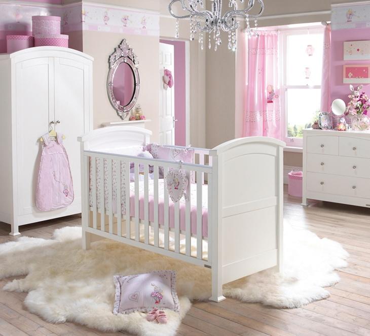 Pink Purple Girl Nursery Baby Things Pinterest