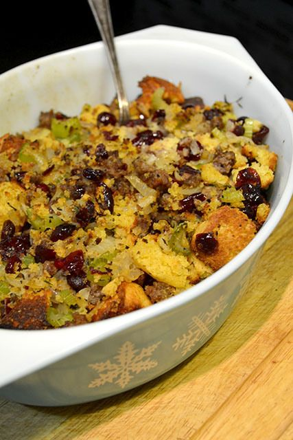 Cornbread and Sausage Stuffing | Breads | Pinterest