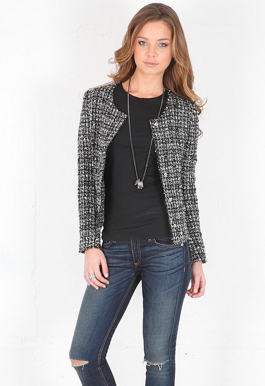 Click image above to buy tweed cardigan jacket designed by emerson