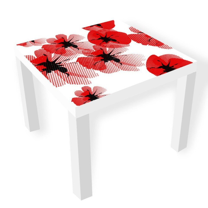 #ikea table with flower sticker  Home Inspiration  Pinterest -> Sticker Table